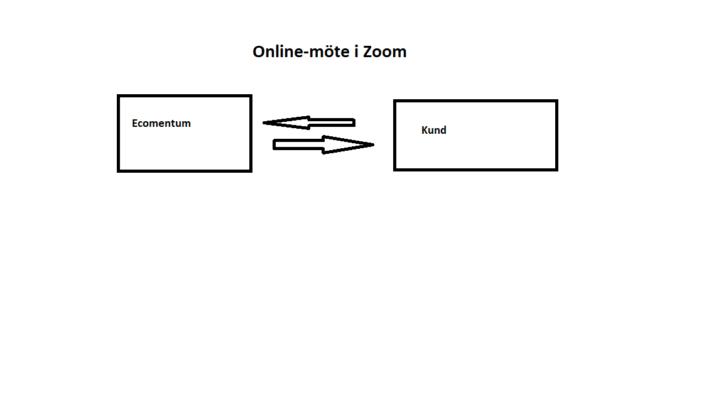Ecomentum tar steget till online-möte via Zoom.